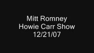 Romney On The Howie Carr Show