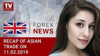 InstaForex tv news: 11.02.2019: US rules market sentiment (USDX, USD/JPY, AUD/USD)