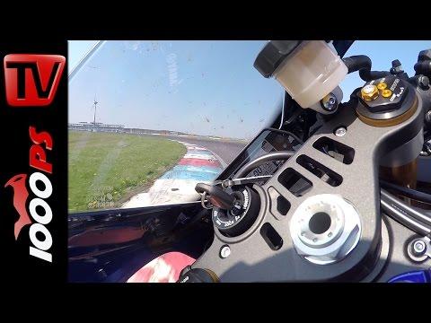 Yamaha YZF-R1 Onboard | Superbike Vergleichstest 2015