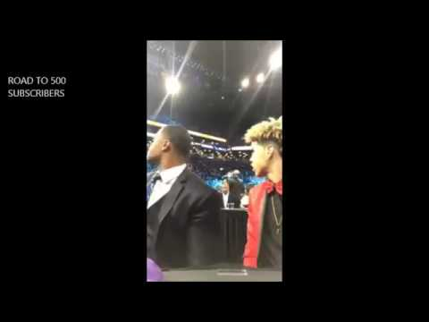 Lamelo Ball Instagram Live At The NBA Draft With Lavar