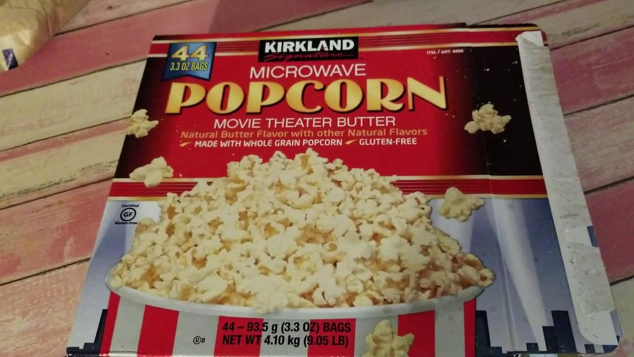 kirkland microwave popcorn movie theater butter rewiew