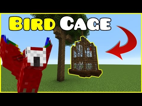 AWESOME BIRD CAGE FOR PARROTS :: Minecraft Tutorial