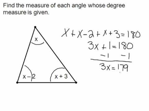 Find the degrees of a triangle - YouTube
