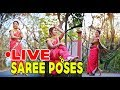 New Create pose in saree to look slim ( portrait photography tutorial 2018) LIVE MAKING: