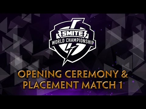 SMITE World Championship 2017 - Opening Ceremony & Placement Match 1 (SoaR vs. INTZ)