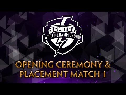 SMITE World Championship 2017 - Opening Ceremony & Placement Match 1 (SoaR vs. INTZ)