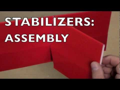 Foamboard Building Techniques: Stabilizers 3 - Assembly