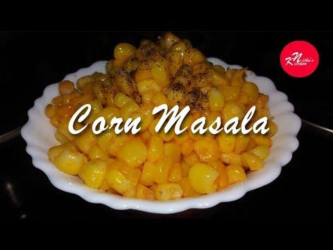 Corn Masala - Kerala Recipe In Malayalam | Nithu's Kitchen -Corn Masala