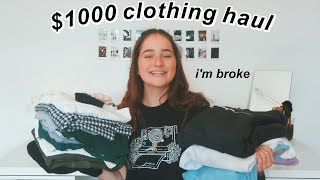 a $1000 try on haul... and merch;)