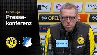 """Peter Stöger: """"Die Mannschaft hat gezeigt, dass sie bereit ist.""""   BVB - TSG Hoffenheim 2:1"""
