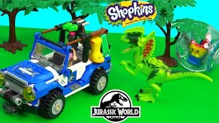 Shopkins Season 3 Dinosaur Jurassic World Movie Playset LEGO And Friends Toy Play Video Cookieswirlc