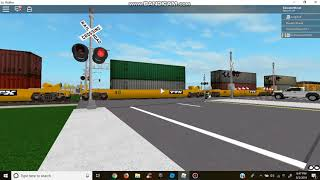 Visger Road Railroad Crossing, Union Pacific Intermodel Train (ROBLOX)