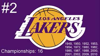 Top 10 NBA Franchises With The Most Championships
