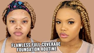 My Flawless Glowy Full Coverage Foundation Routine Naturally Sunny