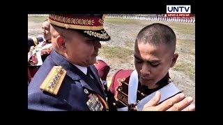 Anak ni PNP Chief Dela Rosa na si Rock, isa nang ganap na PNP cadet