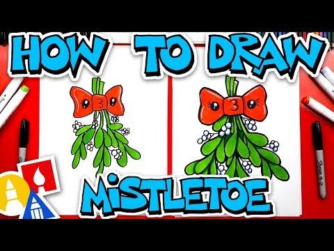 How To Draw Kissing Mistletoe