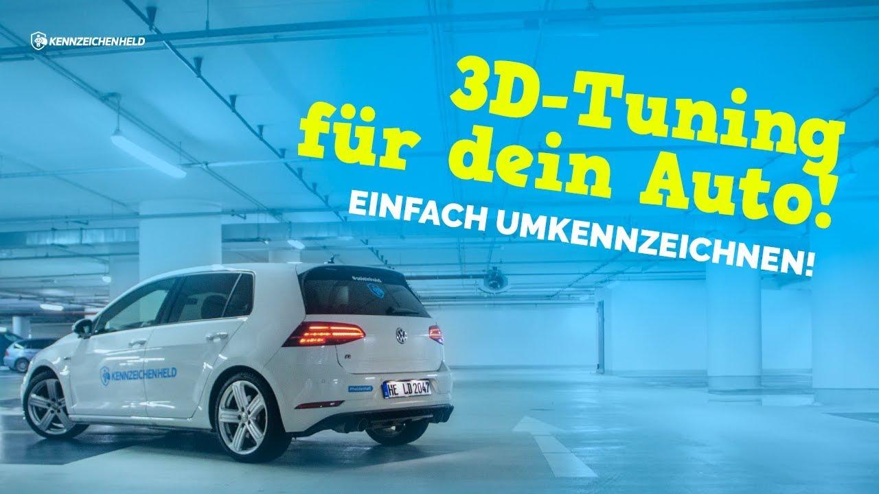 3D Kennzeichen I VW GOLF 7 R Akrapovic I - YouTube
