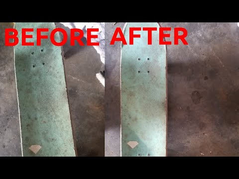How To Clean Your Skateboard Griptape Without Grip Gum!! (Household Items!!)