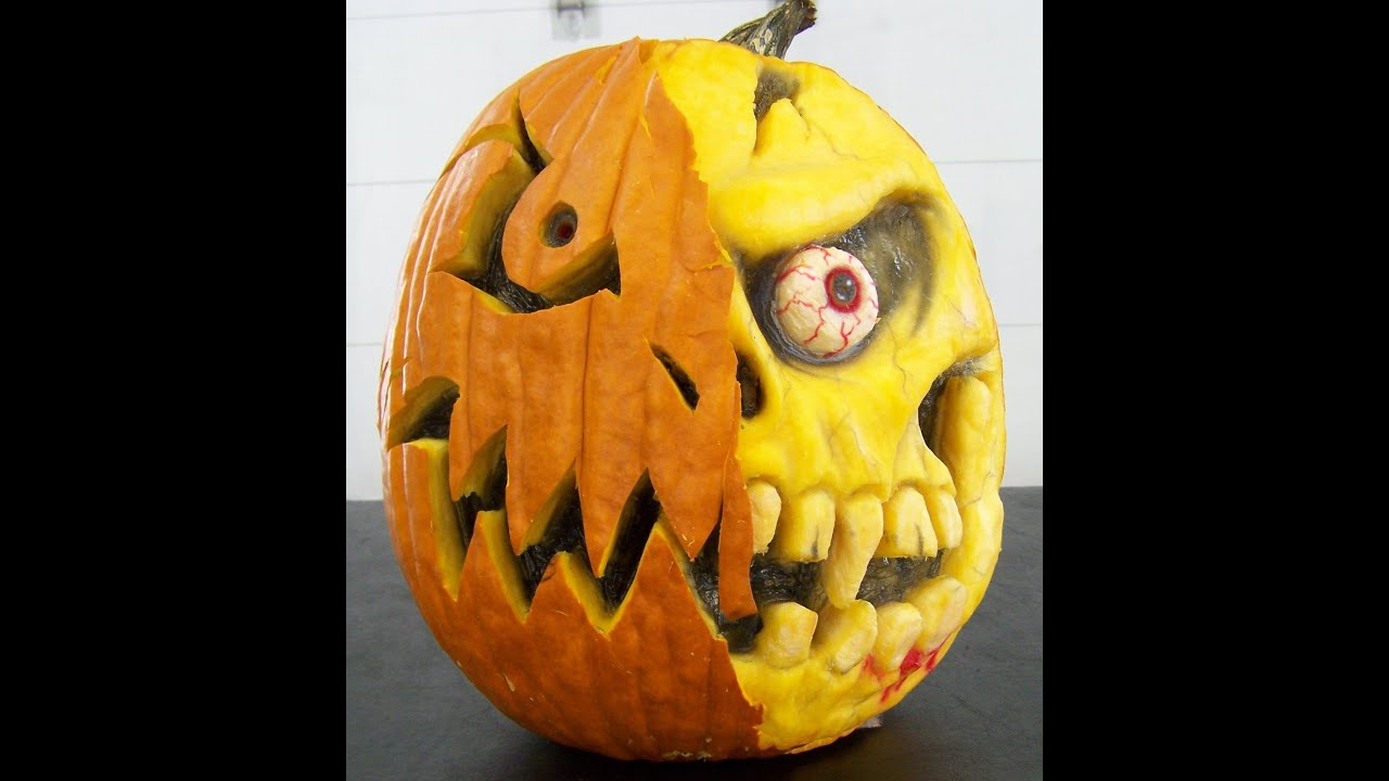 How to carve a 3-D Pumpkin - YouTube