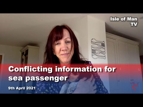 Conflicting information for sea passenger