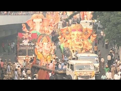 2nd Day of Ganesh Immersion Live From Tank...
