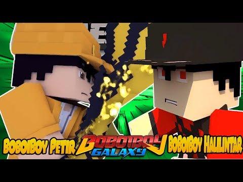 BoBoiBoy Galaxy - BoBoiBoy Petir VS BoBoiBoy Halilintar - Minecraft Animation