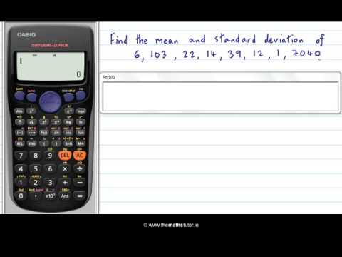 Standard Deviation Of A List - Casio Calculator - Leaving Cert Project Maths - Statistics