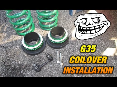 How To Install Coilovers On A G35 350z 350gt Fx35 Youtube