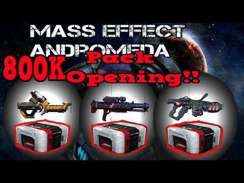 Mass Effect Andromeda Epic! 800K! Pack Opening