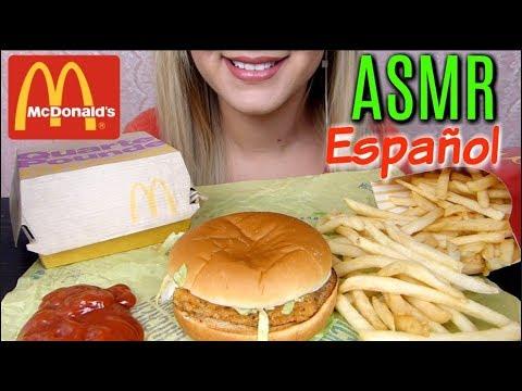ASMR Español McDonald's | Comiendo hamburguesas | ComerConJas91