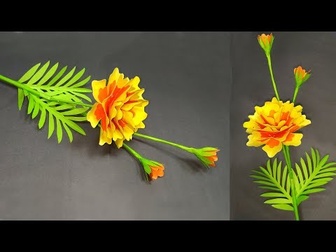 DIY: How to Make Beautiful Stick Flower! Paper Flower Making Tutorial | Abigail Paper Crafts