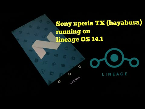 Sony xperia TX (hayabusa) running on lineage OS 14.1(installation process in description)