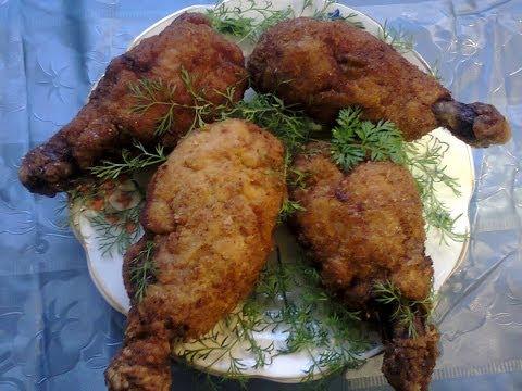 Котлеты по киевски (из куриных окорочков). Chicken Kiev (chicken legs).