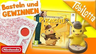 Nintendo GEWINNEN - Meisterdetektiv Pikachu Spiel Lupe basteln Nintendo 3DS XL Pikachu