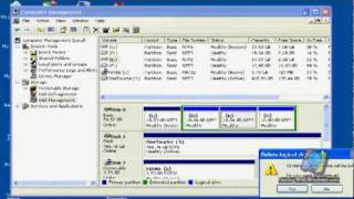 Hard Disk repartitioning using Disk management tool
