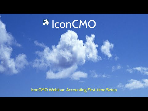 Accounting first-time setup | IconCMO Church Management Soft