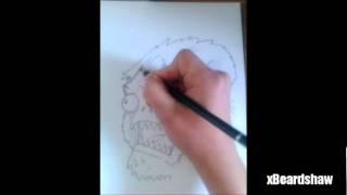 Cartoon Yeti (Colour) - Speed Drawing