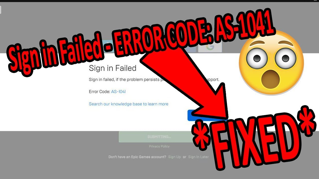*reupload* How to Fix EpicGame Launcher Error Code AS -1041 *SOLVED* 2019