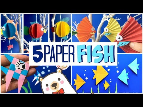 5 Paper Fish DIY Projects - How to make Paper Fish Step By Step
