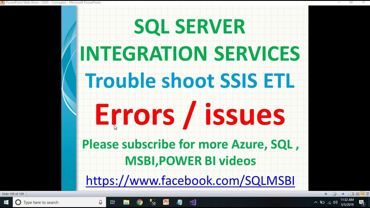 Troubleshoot SSIS Job Errors | SSIS ETL Errors troubleshooting | Automate  SSIS Package