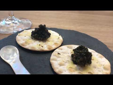 Tasting Oysters at Finlandia Caviar Tallinn restaurant