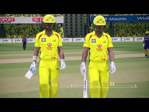 "IPL 2018 ""CSK vs KKR"" Ashes Cricket Gameplay"