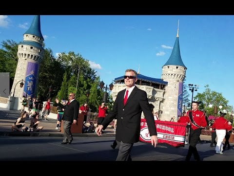 Muskego High School Marching Band Performs at Disney's Magic Kingdom!