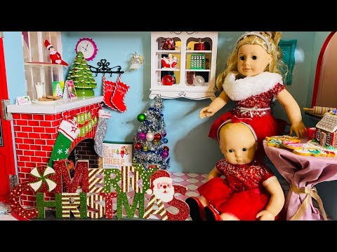 New American Girl Doll Decorates For Xmas