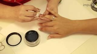Укрепление натуральных ногтей гелем и дизайн