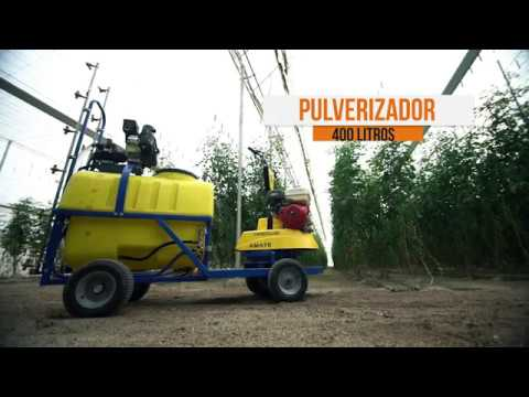 Grupo de traccion + Pulverizador 300 Litros video