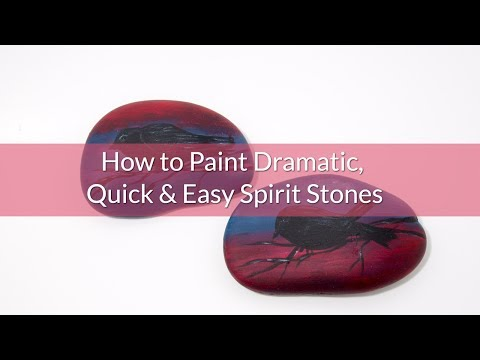 How to Paint Dramatic, Quick and Easy Spirit Stones - Silhouette Birds at Sunset