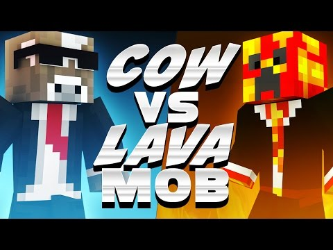 COW VS LAVA MOB ( Minecraft Dream Parkour Race – Funny Videos & Moments )