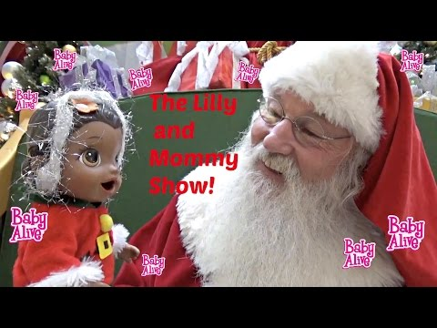 BABY ALIVE visits SANTA! The Lilly and Mommy Show! Santa's Head Quarters! FUNNY KIDS