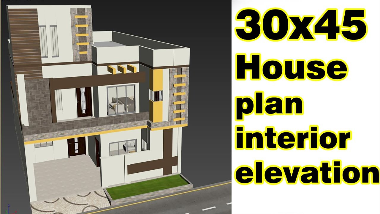 30x45 Home Plan With Inside Elevation Easy Home Plans